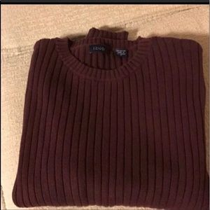MENS IZOD Wine-Colored Sweater MEDIUM